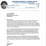 Letter: Krish Rabilal Foundation commends AKF on Youth Leadership Workshop