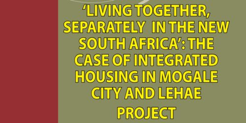 LIVING TOGETHER SEPARATELY IN NEW SA